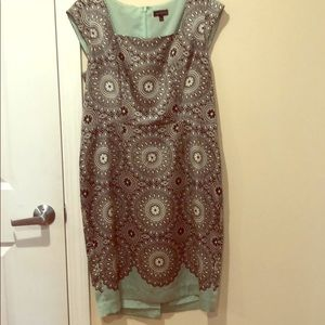 Black and Turquoise sleeveless dress from Limited
